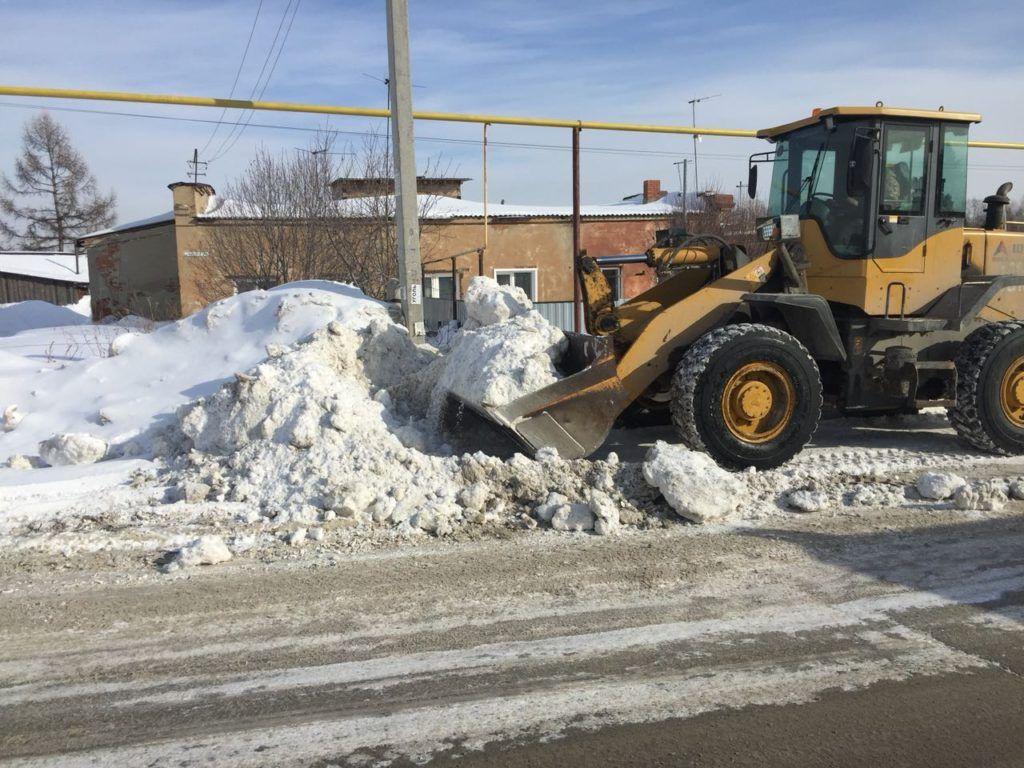вывоз снега в новосибирске